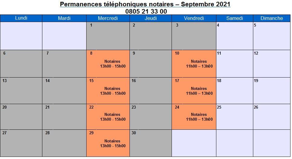 CDAD Gironde - La plateforme téléphonique des notaires de la Gironde se poursuit en septembre !