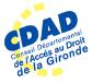 Conseil départemental de l'accès au Droit de la Gironde - Logo